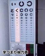 字づまり視力表